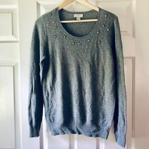 Loft Gemstone Crewneck Sweater- Size Large
